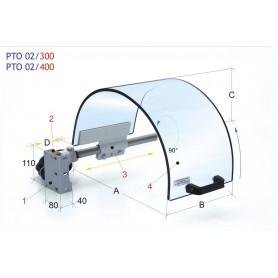Protection de mandrin de tour avec écran monolithique ø 400 MW-Tech PTO 02/400