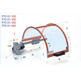 Protection de mandrin MW-Tech PTO 01/600