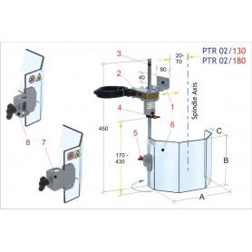 Écran de protection perceuses à colonne MW-Tech PTR 02/180