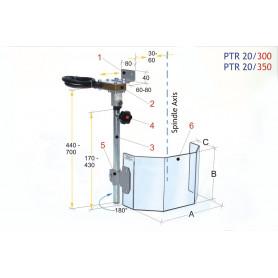 Écran de protection pour grandes perceuses 350 MW-Tech PTR 20/350
