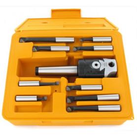 Set tête d'alésage DIN228 CM3/M12 + 11 pcs barres d'alésage MW-Tools KKS311