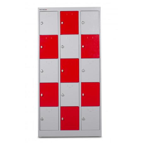 Armoire robuste à 15 casiers MW-Tools DEKLK35