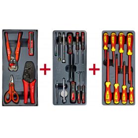 Lot d'outils d'electriciens, tournevis isolés et set d'inspection MW-Tools MWPSEL