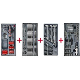 Lot d'embouts, de clés mixtes et set de tarauds et filières MW-Tools MWPSBI