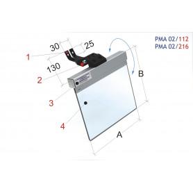 Écran de protection universel tourets à meuler / ponçeuses à bande MW-Tech PMA 02/112