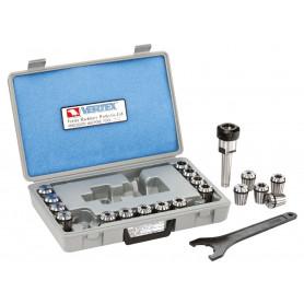 Coffrets de mandrins à pinces CM5/M24 avec pinces de serrage ER DIN6499 et clé à crochet Vertex VERTEX SPSMK5