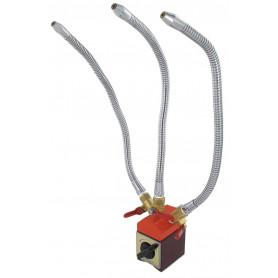 Tuyaux de refroidissement en métal à 3 voies sur base magnétique Vertex VMH-65