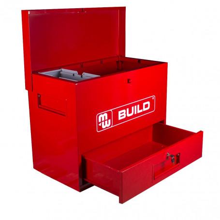 Outlet: Déstockage - Fin de série.: Coffre de chantier métal avec tiroir