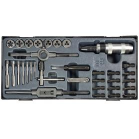 Tarauds, filières, tournevis à choc - 33 pcs MW-Tools MWTD33P