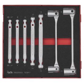 Jeu de clés articulées doubles 7 pcs Teng Tools TEDDF7
