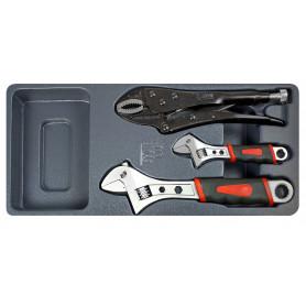 Clés à molette et pince grip MW-Tools MWT3