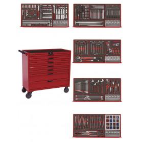 Servante d'outils complète 411 pièces - mousse Teng Tools TCEMM411N2
