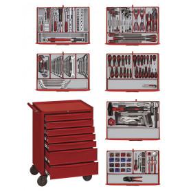 Servante TCW707EV avec 491 pièces - PS trays Teng Tools Master Toolset 491
