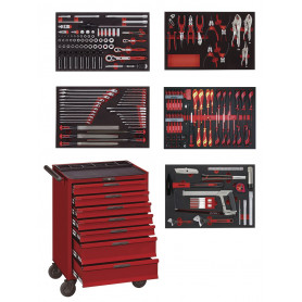 Servante d'atelier complète 231pcs Teng Tools EVA Master Toolset 231