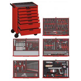 Servante d'outils professionnelle 240 pcs Teng Tools TCEMM240N
