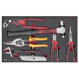 Set de pinces, clé et marteau, 7 pcs Teng Tools TEFMBP7