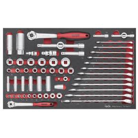Set de douilles et clés mixtes Teng Tools TEFSK57
