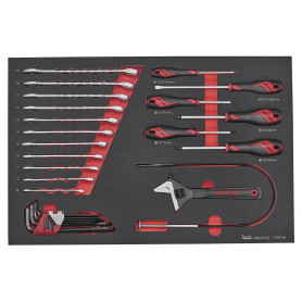 Set de clés et tournevis 28 pcs dans plateau EVA Teng Tools TTESP28