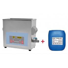 Pack nettoyeur à ultrasons 4,5L professionnel + 5L de nettoyant Ecoplus MW-Tools UCC004PACK
