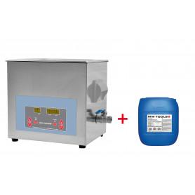 Pack nettoyeur à ultrasons 10L professionnel + 5L de nettoyant industriel MW-Tools UCC010PACK