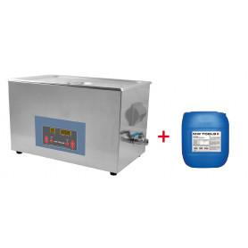 Pack nettoyeur à ultrasons 15L professionnel + 5L de nettoyant Ecoplus MW-Tools UCC015PACK