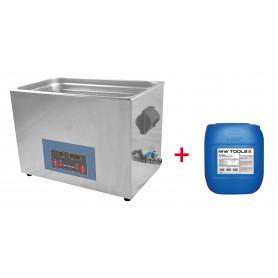 Pack nettoyeur à ultrasons 30L professionnel + 5L de nettoyant Ecoplus MW-Tools UCC030PACK
