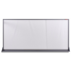 Outlet: 2ème main : peut présenter des traces d'utilisation.: Panneau perforé plat en métal gris 200x94cm