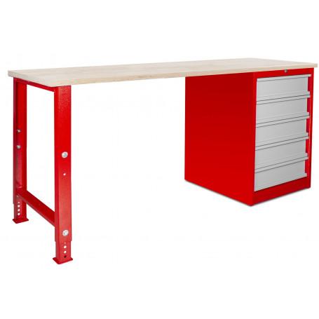 Établi modulaire avec armoire à tiroirs 200 cm MW-Tools MOD201
