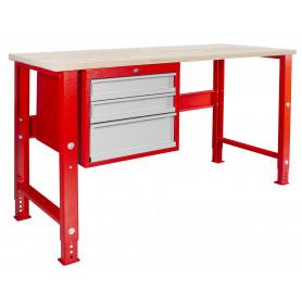 Établi modulaire 150 cm avec armoire à tiroirs MW-Tools MOD155