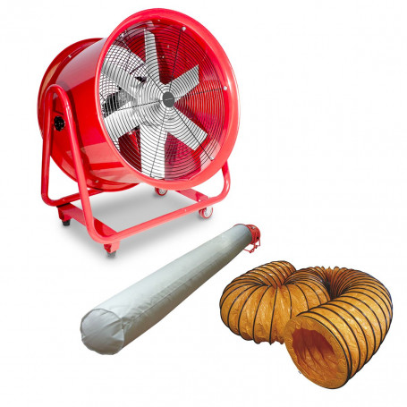 Ventilateur extracteur 600mm - 2000 W avec tuyau et sac filtrant MW-Tools MV600RSET