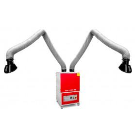 Aspirateur de fumée de soudage mobile avec 2 bras 380V 2800 m³/h MW-Tools LA2802