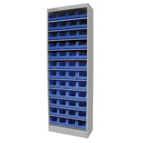 Armoire ouverte avec 48 bacs MW-Tools DEBK48