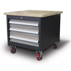 Base de machine mobile 3 tiroirs Optimum MSU3