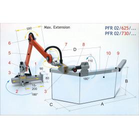 Écran de protection fraiseuse gauche MW-Tech PFR-02730SX