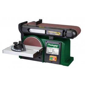 Ponceuse à bois combinée à bande et disque 370W Holzstar BTS151
