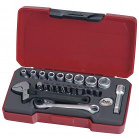 """Jeu de douilles & embouts 1/4"""" 4-13mm 23 pcs Teng Tools T1423"""