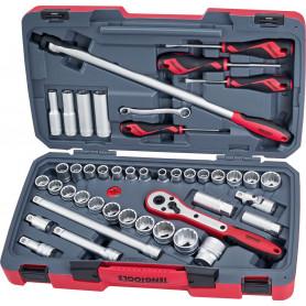 Set de montage 1/2'' mm - pouces Teng Tools T1244