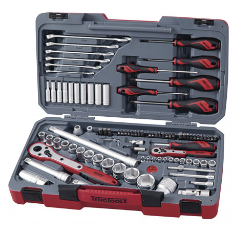 Jeu de douilles embouts et tournevis 95 pièces 1/4'' - 1/2''  Teng Tools TM095