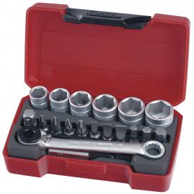 """Jeu de douilles & embouts 1/4"""" 8-13mm 19 pcs Teng Tools T1419"""