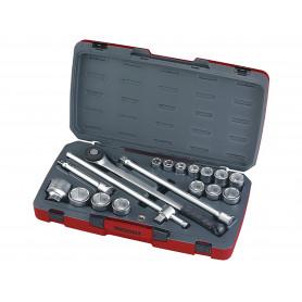 """Jeu de douilles 3/4"""" 19-50mm 18 pcs Teng Tools T3418-6"""