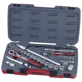 """Jeu de douilles 1/4""""-1/2"""" 4-27mm 72 pcs Teng Tools T1272"""