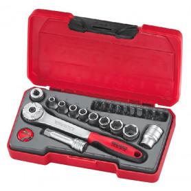 """Jeu de douilles & embouts 1/4"""" 4.5-13mm 22 pcs Teng Tools T1422"""