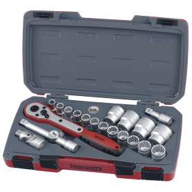 """Jeu de douilles 1/2"""" 10-32 mm 21 pcs Teng Tools T1221"""
