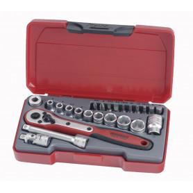 """Jeu de douilles & embouts 1/4"""" 4-13mm 24 pcs Teng Tools T1424"""