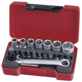 """Jeu de douilles & embouts 1/4"""" 5.5-13mm 20 pcs Teng Tools T1420"""