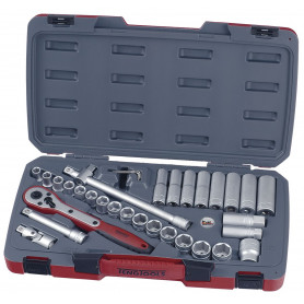 """Jeu de douilles 1/2"""" 11-24mm 34 pcs Teng Tools T1234"""