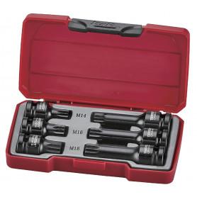 Set de douilles embouts à choc 1/2'' XZN - 6 pièces Teng Tools T9206