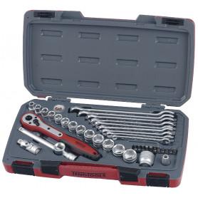 """Jeu de douilles & embouts & clés 3/8"""" 19-22mm 40 pcs Teng Tools T3840"""