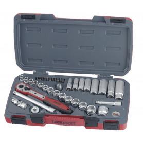 """Jeu de douilles & embouts 3/8"""" 8-21mm 39 pcs Teng Tools T3839"""