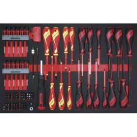 Jeu de tournevis & embouts 98pcs EVA-tray Teng Tools TTEMB98N